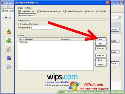 Képernyőkép uBlock Windows 7