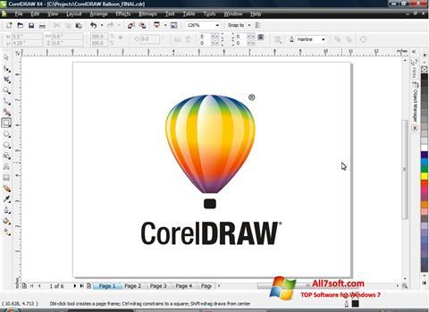 Képernyőkép CorelDRAW Windows 7