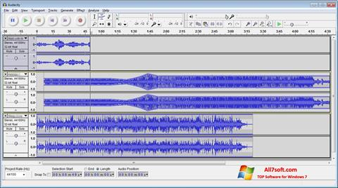 Képernyőkép Audacity Windows 7