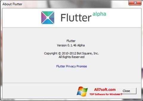 Képernyőkép Flutter Windows 7