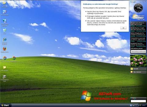 Képernyőkép Google Desktop Windows 7