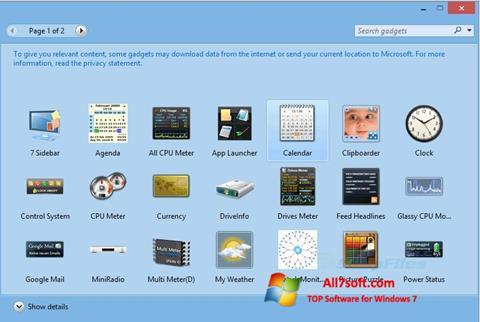 Képernyőkép 8GadgetPack Windows 7
