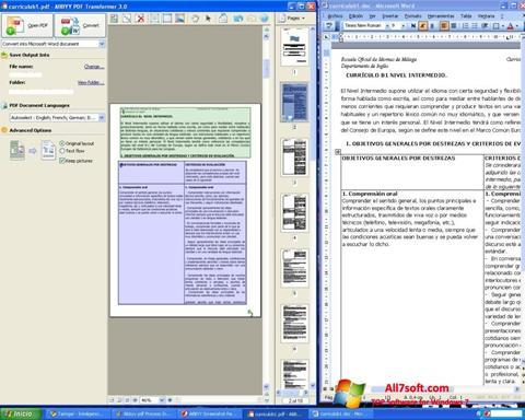 Képernyőkép ABBYY PDF Transformer Windows 7