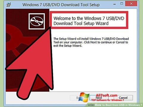 Képernyőkép Windows 7 USB DVD Download Tool Windows 7