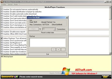 Képernyőkép XP-AntiSpy Windows 7