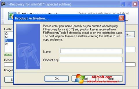 Képernyőkép F-Recovery SD Windows 7