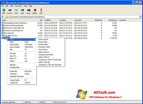 Képernyőkép 7-Zip Windows 7