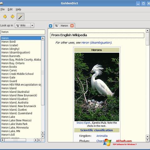 Képernyőkép GoldenDict Windows 7