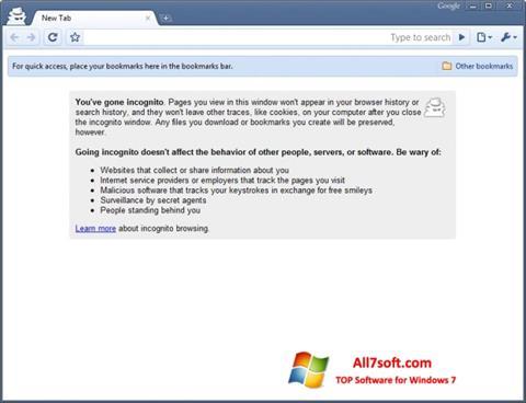 Képernyőkép Google Chrome Beta Windows 7