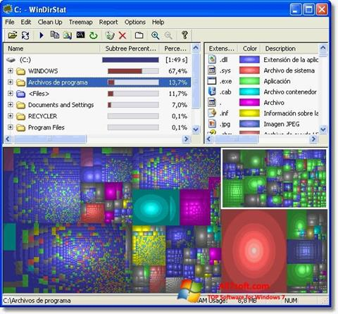 Képernyőkép WinDirStat Windows 7