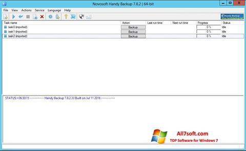Képernyőkép Handy Backup Windows 7