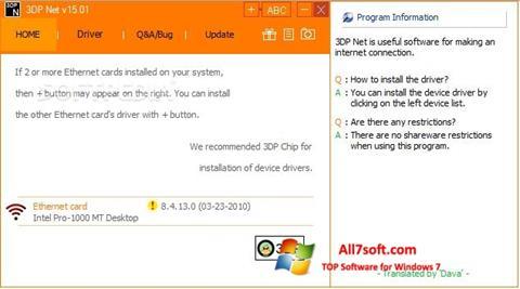 Képernyőkép 3DP Net Windows 7