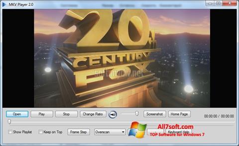 Képernyőkép MKV Player Windows 7