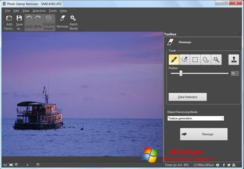 Képernyőkép Photo Stamp Remover Windows 7