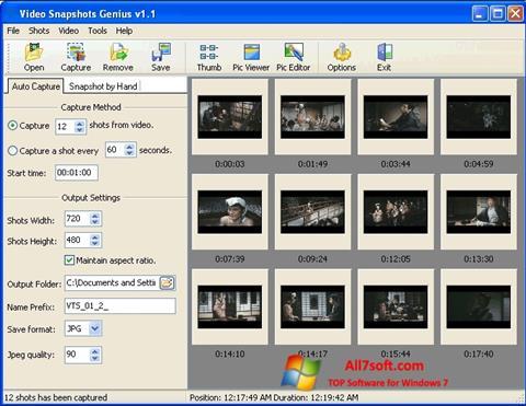 Képernyőkép SnapShot Windows 7