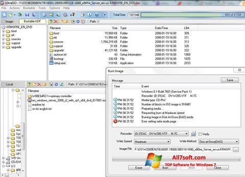 Képernyőkép UltraISO Windows 7