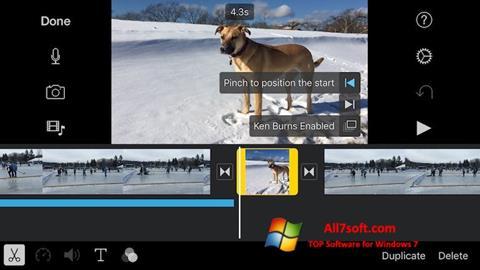 Képernyőkép iMovie Windows 7