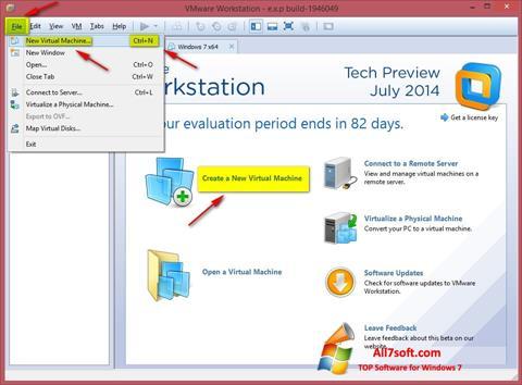 Képernyőkép VMware Workstation Windows 7