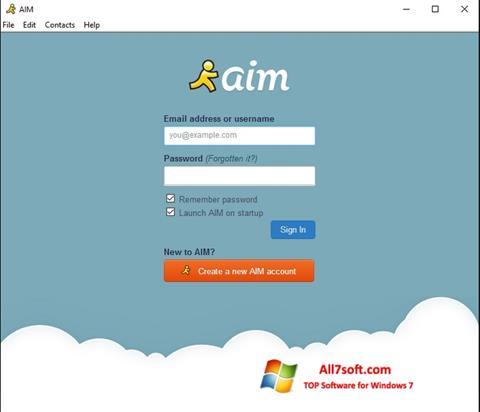 Képernyőkép AOL Instant Messenger Windows 7