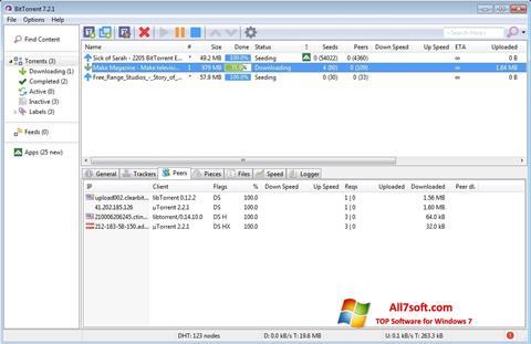 Képernyőkép BitTorrent Windows 7