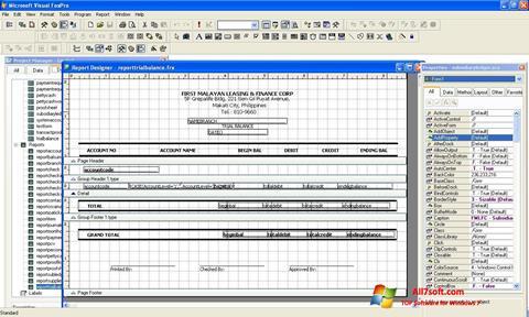 Képernyőkép Microsoft Visual FoxPro Windows 7