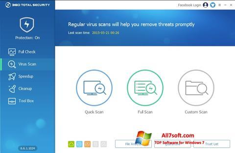 Képernyőkép 360 Total Security Windows 7