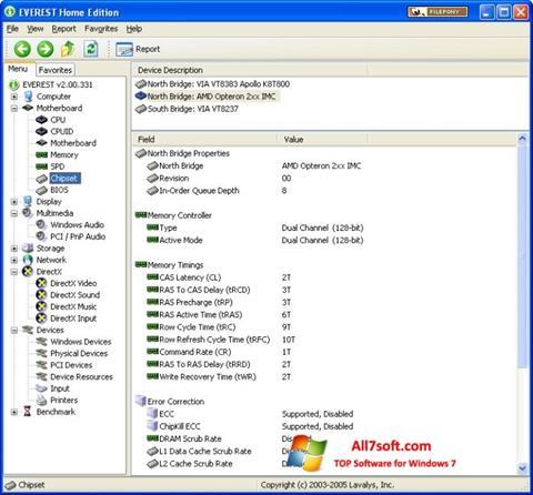 Képernyőkép EVEREST Home Edition Windows 7