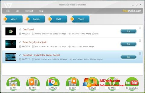 Képernyőkép Freemake Video Converter Windows 7