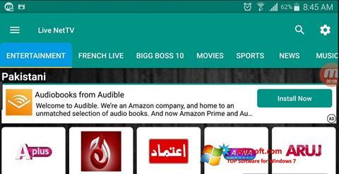 Képernyőkép Net TV Windows 7