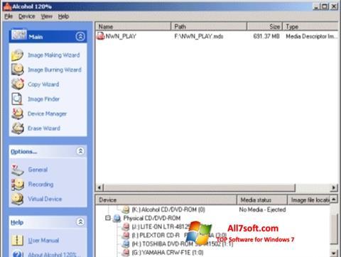 Képernyőkép Alcohol 120% Windows 7