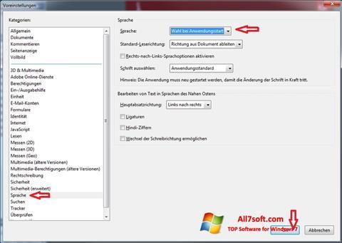 Képernyőkép Adobe Reader Windows 7