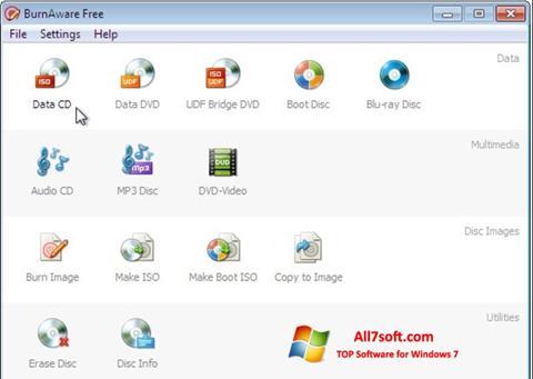 Képernyőkép BurnAware Free Windows 7