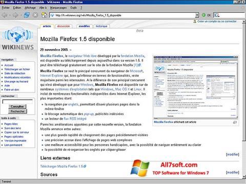 Képernyőkép Mozilla Firefox Windows 7