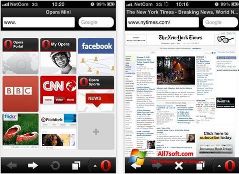 Képernyőkép Opera Mini Windows 7