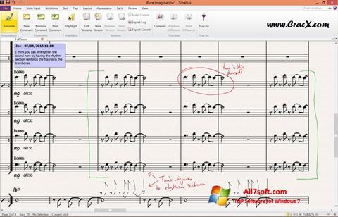 Képernyőkép Sibelius Windows 7