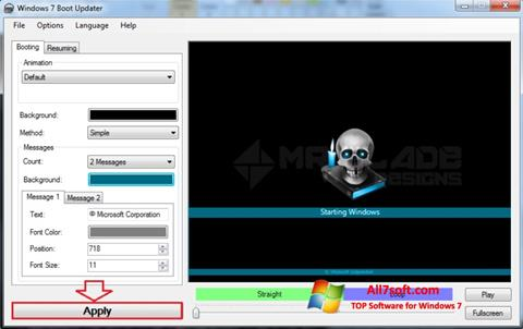 Képernyőkép Windows 7 Boot Updater Windows 7