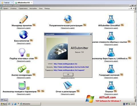 Képernyőkép AllSubmitter Windows 7