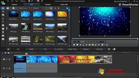 Képernyőkép CyberLink PowerDirector Windows 7