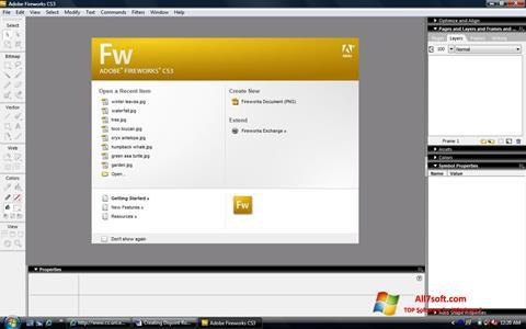 Képernyőkép Adobe Fireworks Windows 7