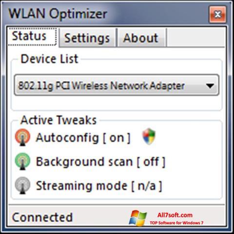 Képernyőkép WLAN Optimizer Windows 7