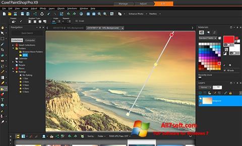 Képernyőkép PaintShop Pro Windows 7