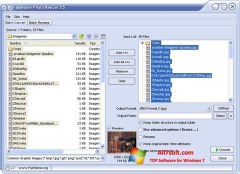 Képernyőkép FastStone Photo Resizer Windows 7