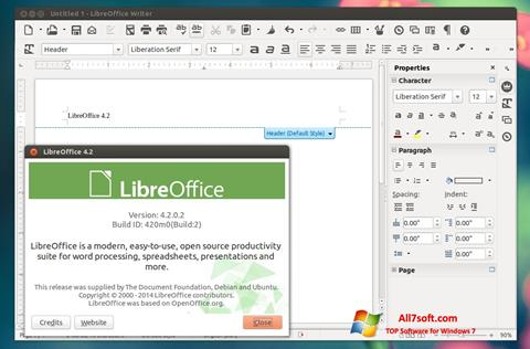 Képernyőkép LibreOffice Windows 7