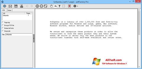 Képernyőkép pdfFactory Pro Windows 7
