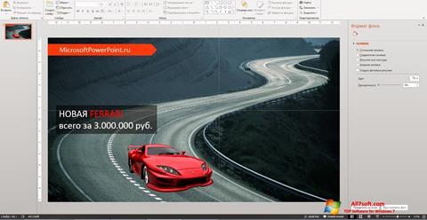 Képernyőkép Microsoft PowerPoint Windows 7