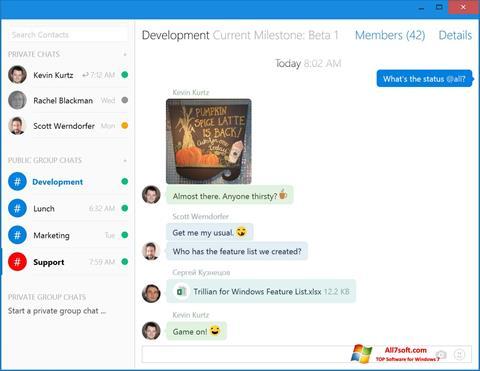 Képernyőkép Trillian Windows 7