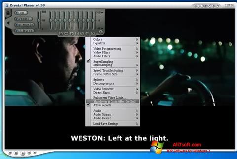 Képernyőkép Crystal Player Windows 7