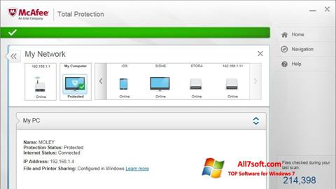 Képernyőkép McAfee Total Protection Windows 7