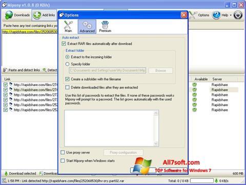 Képernyőkép Mipony Windows 7
