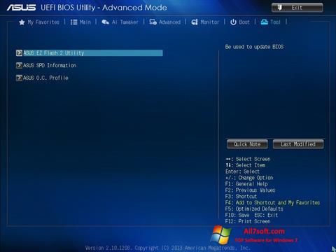Képernyőkép ASUS Update Windows 7
